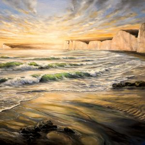 Beachy Head oil painting artwork
