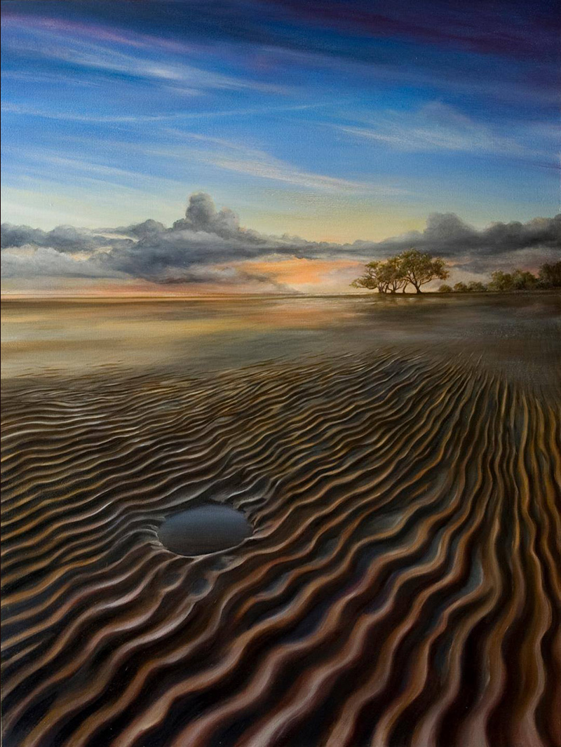 Nudgee Beach on canvas art