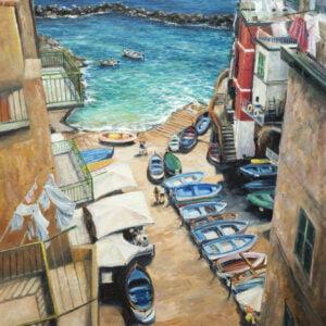 riomaggiore harbour art